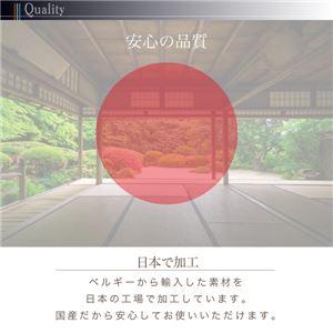 キッチンマット 80×270cm   メインカラー:サックスブルー  拭ける・はっ水 古木風マット felmate フェルメート