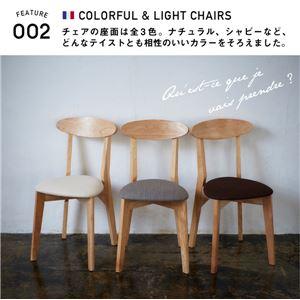 【テーブルなし】 チェア1脚 座面カラー:ブラ...の紹介画像2