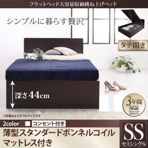 収納ベッド セミシングル 縦開き 深さグランド ...の商品画像