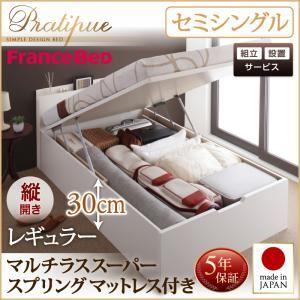 組立設置付 国産跳ね上げ収納ベッド Pratipue プラティーク
