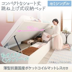 お客様組立 コンパクトな跳ね上げ式収納 ベッド Avari アヴァリ