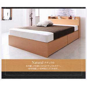 【組立設置費込】 収納ベッド セミダブル 床板仕様  【フレームのみ】 フレームカラー:ナチュラル  国産 棚・コンセント付き収納ベッド Fleder フレーダー