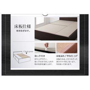 お客様組立 収納ベッド ダブル 床板仕様  【フレームのみ】 フレームカラー:ダークブラウン  国産 棚・コンセント付き収納ベッド Fleder フレーダー