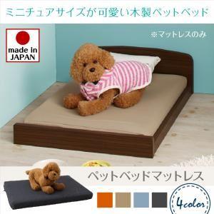 ベッド【マットレス付】フレームカラー:ホワイト寝具カラー:ライトブルーミニチュアサイズが可愛い木製ペットベッドCatnelキャトネル