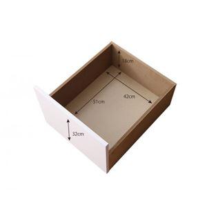 【ベッド別売】専用別売品(引き出し4杯) フレームカラー:ホワイト コンセント付き収納ケースも入る大容量収納ホワイトベッド Crocus クロキュス