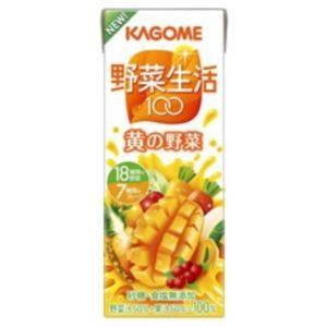 【カゴメ 野菜生活100 紙パック200ml 黄の野菜 72本セット】