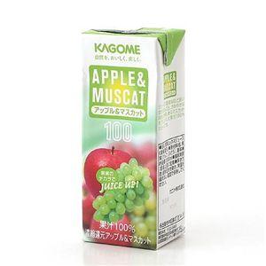 カゴメ フルーツジュース アップル&マスカット 72本セット - 拡大画像