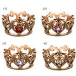 フェアリーテイル ピンク王冠ペンダントトップ(誕生石)ネックレス 155751 3月
