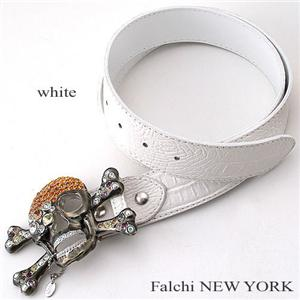 Falchi NEW YORK ベルト ホワイト03【送料無料】