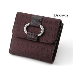 BVLGARI Wホック財布 25035 ブラウン - 拡大画像