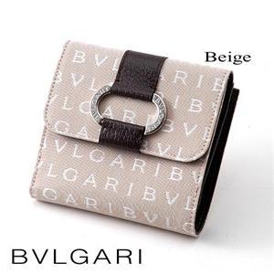 BVLGARI Wホック財布 25036 ベージュ - 拡大画像