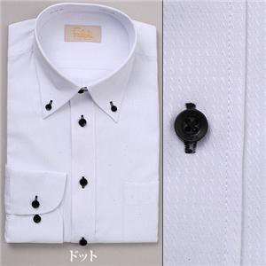 falchi NEW YORK ドレスシャツ F-D2R BK ブラック ドット #1 LL 43-86 - 拡大画像