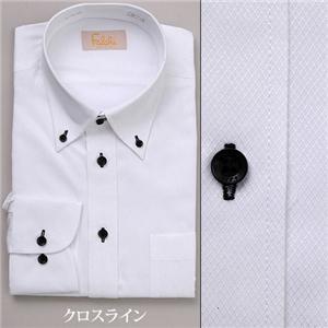 falchi NEW YORK ドレスシャツ F-D2R BK ブラック クロスライン #2 LL 43-86 - 拡大画像