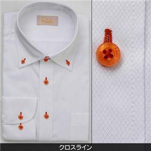 Falchi NewYork メンズ襟ワイドドレスシャツ F-D2W-OR クロスライン(#2) M 39-82