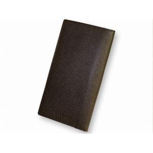 ブルガリ 20821 財布 2つ折り 長財布 小銭入れナシ BVLGARI  こげ茶色 - 拡大画像