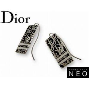 Christian Dior クリスチャン ディオール D69397 トロッター ピアス  ブラック - 拡大画像