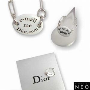 クリスチャン ディオール D80645 プレート リング ホワイト×シルバー Christian Dior  シルバー×ホワイト