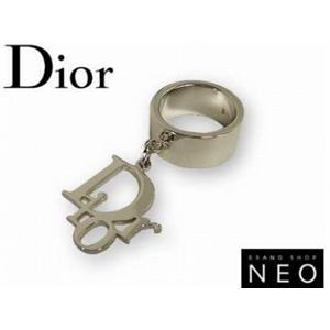 Christian Dior クリスチャン ディオール エクスボーツロゴリング D80651 シルバー