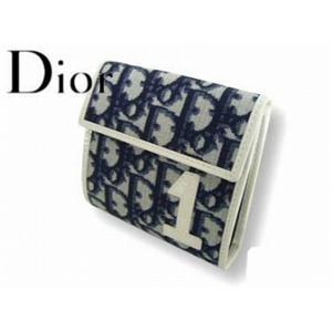 Christian Dior クリスチャン ディオール TCD43008 B2 3つ折り 財布 ブルー - 拡大画像
