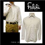 Falchi NewYork(ファルチ ニューヨーク) メンズドレスシャツ F-W-GR #14(グレー) Mサイズ(39-82)