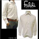 Falchi NewYork(ファルチ ニューヨーク) メンズドレスシャツ F-W-BK #16(ブラック ドット) Lサイズ(41-84)