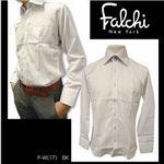 Falchi NewYork(ファルチ ニューヨーク) メンズドレスシャツ F-W-BK #17(ブラック ストライプ) Lサイズ(41-84)