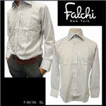 Falchi NewYork(ファルチ ニューヨーク) メンズドレスシャツ F-W-S.BL #18(スカイブルー) Mサイズ(39-84)
