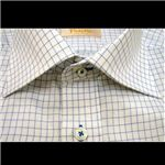 Falchi NewYork(ファルチ ニューヨーク) メンズドレスシャツ F-W-S.BL #18(スカイブルー) Lサイズ(41-86)