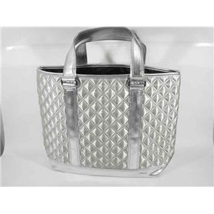 MARC BY MARC JACOBS(マークバイマークジェイコブス)サテン キルティングトートバッグ 50330 silver - 拡大画像
