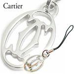 Cartier(カルティエ) 2Cモチーフ携帯電話ストラップ T1220326・シルバー【送料無料】
