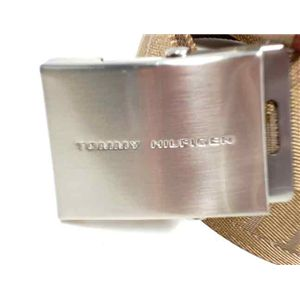 TOMMY HILFIGER トミーヒルフィガー 08-4276-KHA L/XL ベルト サイズ調節可