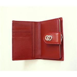 BVLGARI ブルガリ 25253 DOPPIOTONDO ドッピオトンド Wホック 二つ折り財布 レッド画像2