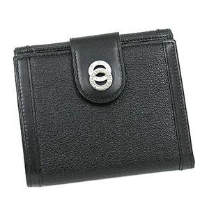 BVLGARI ブルガリ 26203 ドッピオトンド ダブルホック財布 ブラック×シルバー【送料無料】