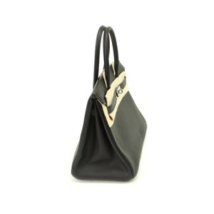 HERMES (エルメス) バッグ バーキン30cm トゴ ブラック シルバー金具画像2
