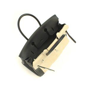 HERMES (エルメス) バッグ バーキン30cm トゴ ブラック シルバー金具画像3
