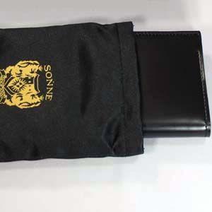 SONNE(ゾンネ)名刺入れ カードケース コードバン SOC008/BLK ブラック