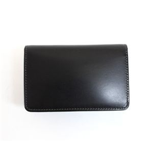 SONNE(ゾンネ)名刺入れ カードケース ブライドルレザー SOW008/BLK ブラック