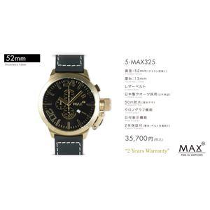 MAX XL WATCH 【マックス ウォッチ】 腕時計 5-MAX325 52mm FACE LINE - 拡大画像