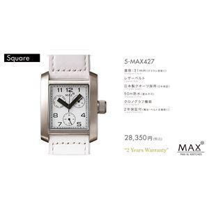 MAX XL WATCH 【マックス ウォッチ】 腕時計 5-MAX427 31mm FACE LINE - 拡大画像