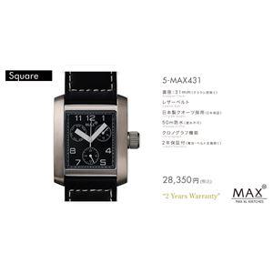 MAX XL WATCH 【マックス ウォッチ】 腕時計 5-MAX431 31mm FACE LINE - 拡大画像