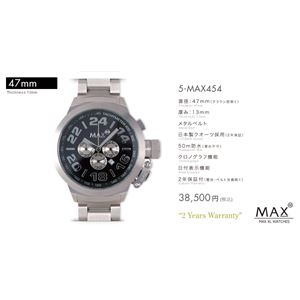 MAX XL WATCH 【マックス ウォッチ】 腕時計 5-MAX454 47mm FACE LINE - 拡大画像
