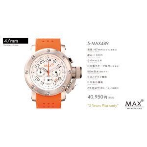 MAX XL WATCH 【マックス ウォッチ】 腕時計 5-MAX489 47mm FACE LINE - 拡大画像