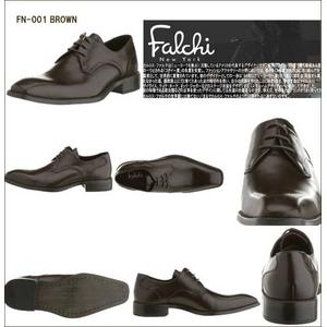 Falchi New York ファルチ ニューヨーク レザードレスシューズ 001 ブラウン 25.5の写真2