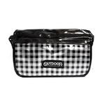 OUTDOOR(アウトドア) ソフトエナメルチェックメッセンジャーバッグ out-83 ブラック