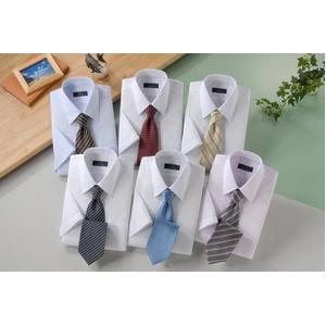 銀座・丸の内のOL100人が選んだ 半袖ワイシャツ&ネクタイセット 50217 シャツサイズ LL ワイシャツ6枚 ネクタイ8本 セット