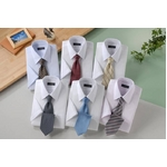 銀座・丸の内のOL100人が選んだ 半袖ワイシャツ&ネクタイセット 50217 シャツサイズ 3L ワイシャツ6枚 ネクタイ8本 セット 【送料無料】