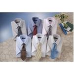 銀座・丸の内のOL100人が選んだ 半袖ワイシャツ&ネクタイセット 50216 シャツサイズ L ワイシャツ6枚 ネクタイ8本 セット【送料無料】