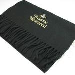 Vivienne Westwood(ヴィヴィアンウエストウッド) マフラー BLACK s13-f552combi12