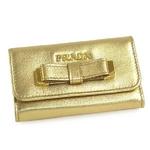 Prada(プラダ) 1M0222 NAPPA FIOCCO PLATINUM 6連 キーケース【送料無料】