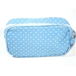 CATH KIDSTON(キャスキッドソン) Cosmetic bag, mini dot blue コスメティックバッグ 211314